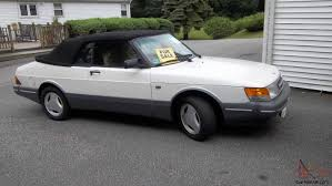 saab 900 convertible saab 900 convertible turbo 5 speed lots new pearl white paint saab