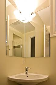 Corner Sink For Small Bathroom - corner sink and corner mirror in small bathroom
