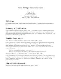 resume exles for retail manager resume sle retail management resume exles