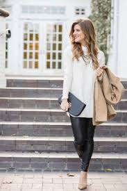 winter date night with faux leather liquid leggings
