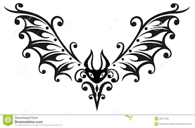 bat halloween tribal stock photography image 33577022