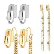 earring converters jon richard set of two gold and silver pierced earring converters