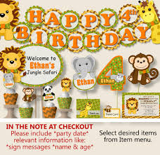 Welcome Home Party Decorations Safari Birthday Party Decorations Jungle Birthday Party