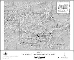 Map Oregon Washington State Stock by Obsidian Source Maps United States
