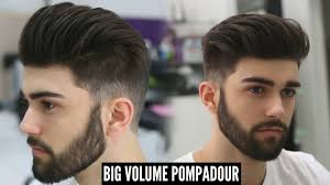Mens Hairstyle For Big Forehead by Big Volume Pompadour New Best Mens Hairstyle For 2017 Tutorial