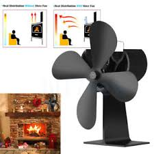 ecofan wood stove fan 4 blades heat powered wood stove fan for log wood burner fireplace