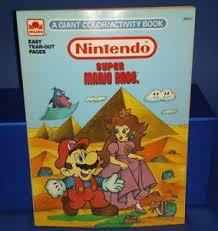 vintage nintendo super mario coloring book ebay
