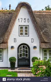 Haus Deutschland Friesische Haus Keitum Sylt Deutschland Stockfoto Bild