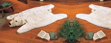 polar bear rug the green head