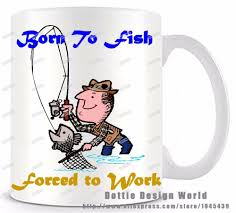 Coffee Mugs Wholesale Wholesale Born To Fish Force To Work Funny Novelty Travel Mug