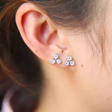 earrings for second simple cheap high quality cz triangle stud earring second stud