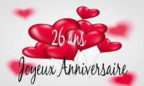 26 ans de mariage carte anniversaire amour 26 ans ballon coeur