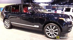 land rover black inside 2015 range rover autobiography exterior and interior walkaround