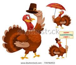 happy thanksgiving day turkeys stock vector 735762013