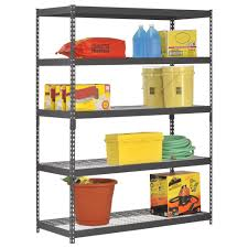 amazon com edsal trk 602478w5 heavy duty steel shelving in black