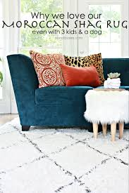 inspiring shag rugs style by emily henderson moroccan shag rugs