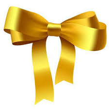 ribbon bow yellow ribbon bow free ornament vectors polyvore