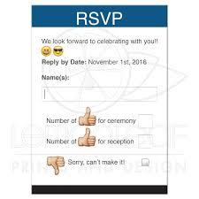 rsvp wording social media bar mitzvah rsvp card thumbs up emoticon