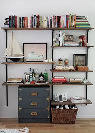 Decorative Bookshelves by Wall Shelves Design Great Heavy Duty Track Wall Shelving Shelves