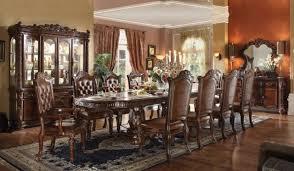 acme 62000 vendome 9pcs cherry double pedestal dining table set