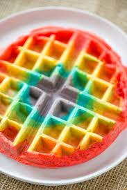 belgian rainbow waffles will make your st patrick u0027s day breakfast