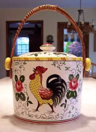 roosters and roses biscuit barrel u0026 lid 1953 u2013 1961 arts and