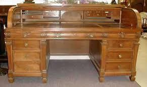 Value Of Antique Roll Top Desk Desk Vintage Roll Top Desk The Consortium Vintage Furniture Ebay