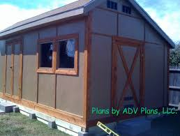 12 X 20 Barn Shed Plans Storage Shed Plans Step By Step Shed Plans
