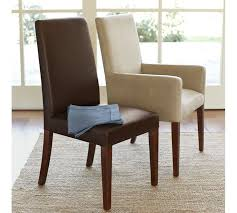Leather Parsons Chairs Grayson Chair Pottery Barn