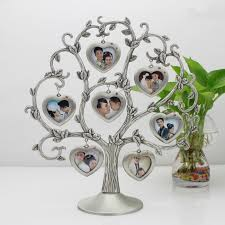 Gift Tree Free Shipping Free Shipping Baby Family Zinc Alloy Metal Photo Frames Gift