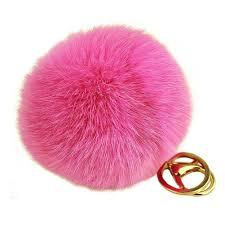 amazon com miraclekoo rabbit fur ball pom pom key chain gold