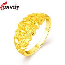 golden gold rings images Dubai golden finger rings women 39 s pure gold color engagement ring jpg