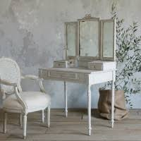 Antique Bedroom Vanity Two Tones Antique Bedroom Vanity With Mirror Combined Acrylic