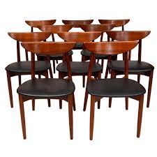 set of ten teak dining chairs harry ostergaard for moreddi for