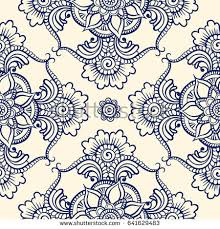 oriental design floral seamless pattern doodle vector background stock vector