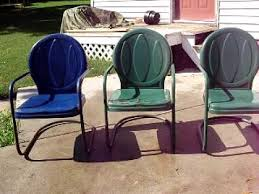 vintage metal bouncy motel lawn chairs set of three youtube