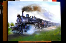 how i drew a steam locomotive drawing locomotive youtube