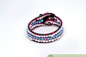 beading leather bracelet images How to make leather and bead bracelets 8 steps with pictures jpg