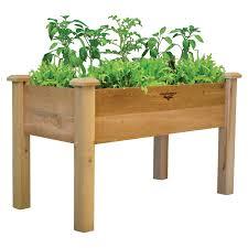 gronomics cedar rustic planter box hayneedle