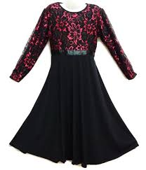 jubah moden kids jubah moden baju raya kurung for ages 3y to 14y black