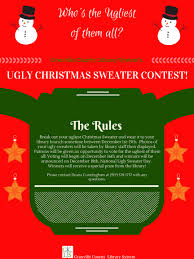 participate in granville county library system u0027s ugly christmas
