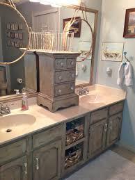 Distressed Bathroom Vanities Appealing Rustic Country Style Bath Vanities With Solid Wood