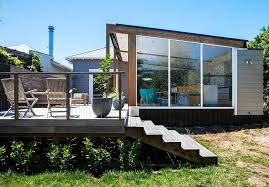 Glass Box House Auckland Bungalow With Modern Glass And Timber Extension