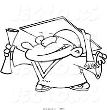 bucket filling coloring pages vector of a cartoon graduate boy gripping certificate coloring