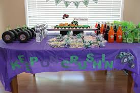 Ideas For Birthday Decoration At Home It U0027s Fun 4 Me Monster Truck 5th Birthday Party