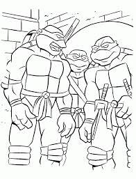 teenage mutant ninja turtles coloring pages for kids free coloring