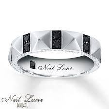 neil wedding bands kayoutlet neil men s band 3 8 ct tw black diamonds 14k gold