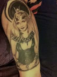 tattoo of claudette colbert from cecil b demille u0027s cleopatra