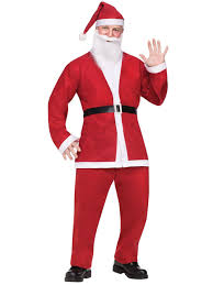 disposable santa claus costume christmas mens costumes