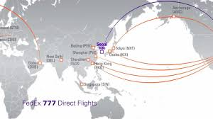 Fedex Ground Map Shipping Between The U S And South Korea Youtube